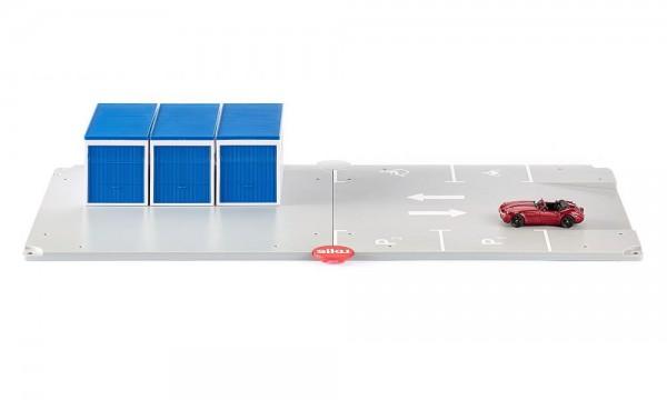 Siku 5589 Garagen und Parkplatz mit Fahrzeug