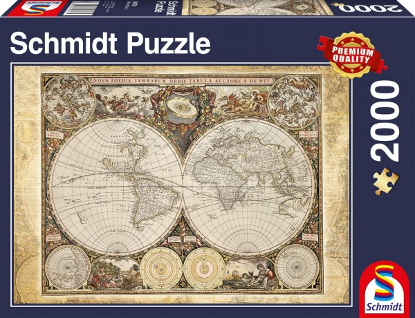 Historiche Weltkarte, 2.000 T