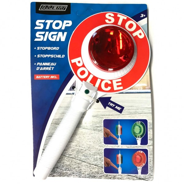 Stop `n Go Police-Kelle grün rot