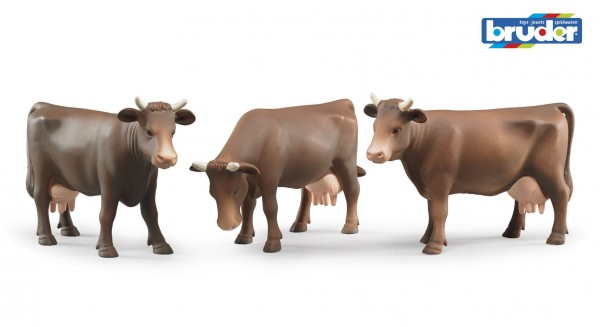 Bruder 02308 Kuh (Kopf rechts, Kopf unten oder Kopf links)