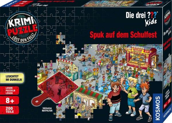 Krimi Puzzle: Die drei ??? Kids - Spuk auf dem Schulfest