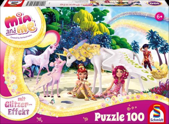 Puzzle: Mia & Me, Glitzer Am Strand, 100 Teile