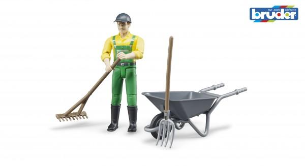 Bruder 62610 Figurenset Landwirt mit Zubehör