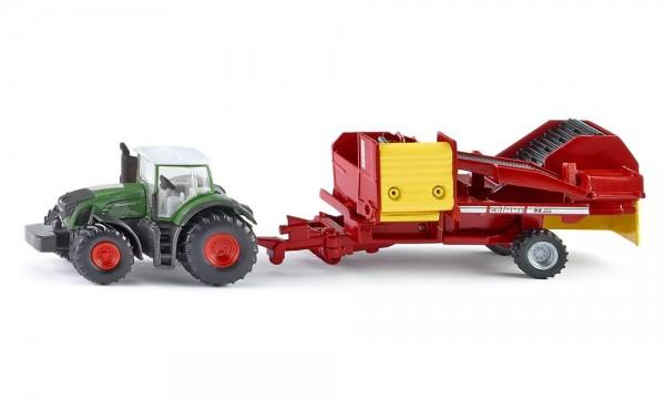 Siku 1808 Traktor mit Kartoffelroder