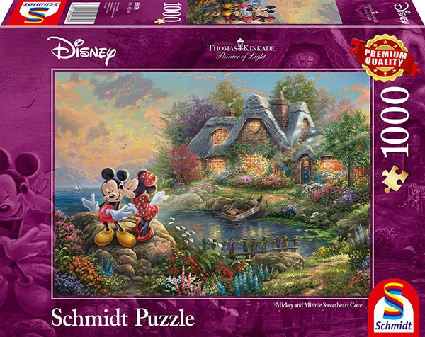 Puzzle: Sweethearts Mickey & Minnie, 1000 Teile