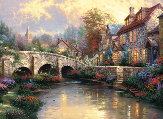 Puzzle: Bei der alten Brücke, 1000 Teile