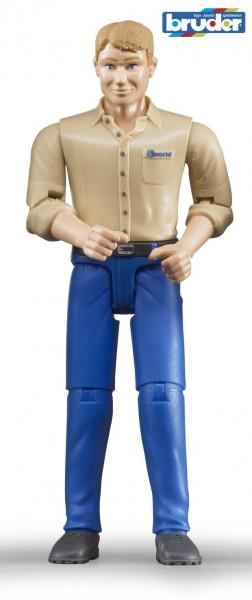 Bruder 60006 Mann mit hellem Hauttyp und blauer Hose