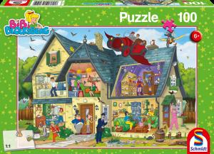 Puzzle: Bei Blocksbergs ist was los! 100 Teile