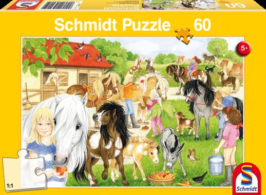 Puzzle: Spaß auf dem Ponyhof, 60 Teile