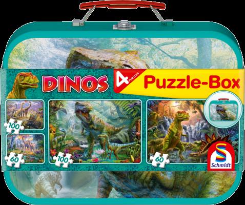 Kinderpuzzle: DIno, 2x60 Teile, 2x100 Teile, insgesamt 4 Puzzle