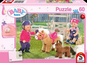 Puzzle: Baby Born, Auf dem Ponyhof + eine Kleinigkeit für deine Puppe