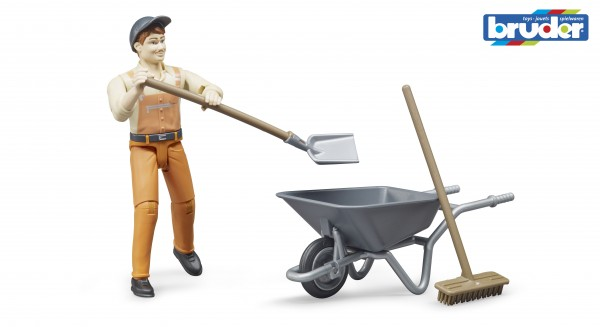 Bruder 62130 Figurenset Kommunalarbeiter