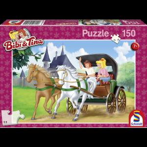 Puzzle: Bibi und Tina, Kutschfahrt, 150 Teile