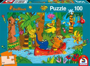 Puzzle: Im Dschungel, 100 Teile
