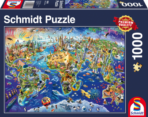 Puzzle: Entdecke unsere Welt, 1000 Teile