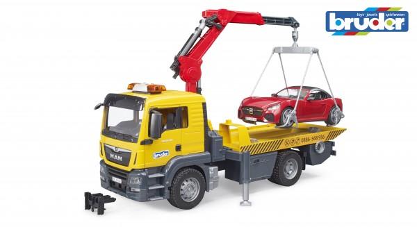 Bruder 03750 MAN TGS Abschlepp-LKW mit Roadster