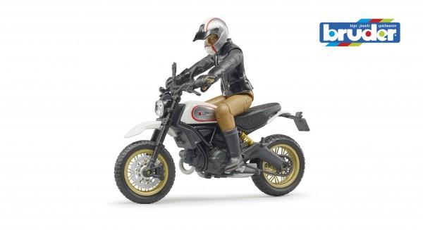 Bruder 63051 Scrambler Ducati Desert Sled mit Fahrer