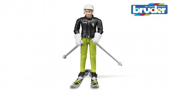 Bruder 60040 Skifahrer mit Zubehör
