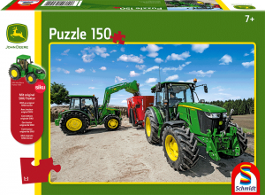 Puzzle: Traktoren der 5M Serie, 150 Teile