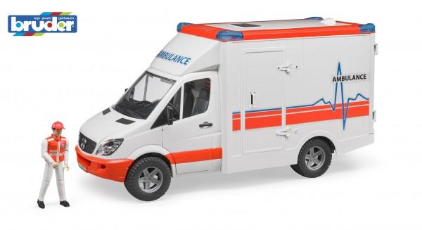 Bruder 02536 MB Sprinter Ambulanz mit Sanitäter