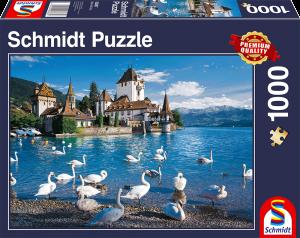 Puzzle: Ufer mit Schwänen, 1000 Teile