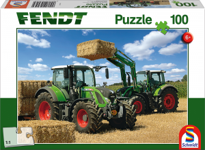 Puzzle: Fendt 724 Vario, Fendt 716 Vario mit Frontlader Cargo 4x85