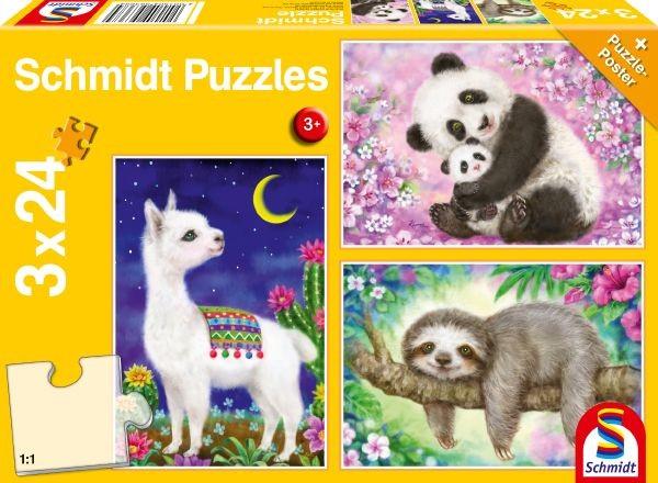 Pz. Panda; Lama; Faultier; 3x
