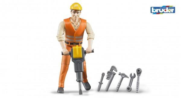 Bruder 60020 Bauarbeiter mit Zubehör