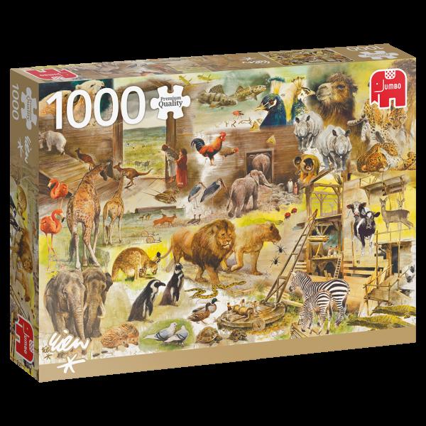 Premium Collection – Rien Poortvliet, Der Bau der Arche Noah (1000 Teile)