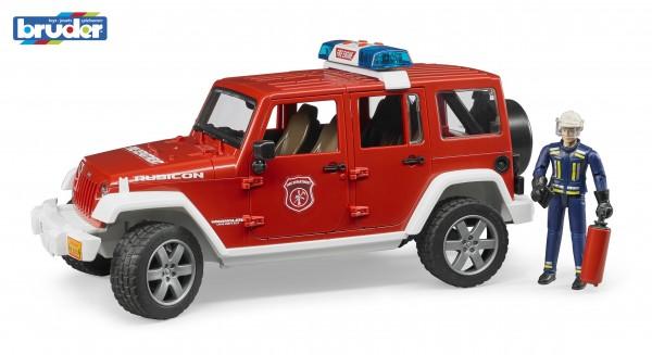 Bruder 02528 Jeep Wrangler Unlimited Rubicon Feuerwehrfahrzeug
