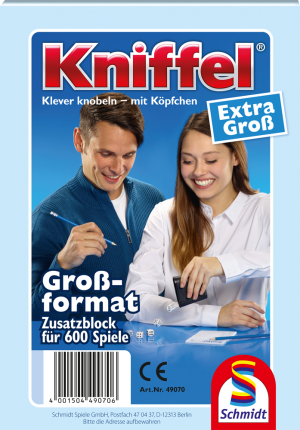 Kniffelblock Gross 100 Blatt