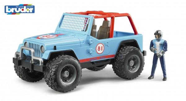 Bruder 02541 Jeep Cross Country Racer blau mit Rennfahrer