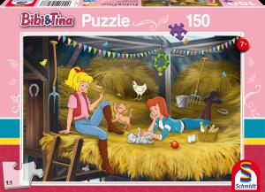 Puzzle: Auf dem Heuboden, Bibi und Tina, 150 Teile