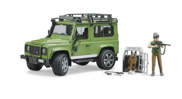 Bruder 02587 Land Rover Defender Stat.Wago