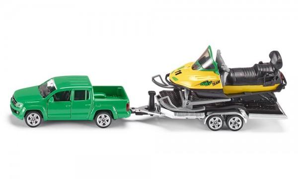 Siku 2548 PKW mit Anhänger und Snowmobil