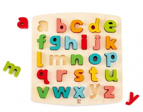 Puzzle mit Kleinbuchstaben