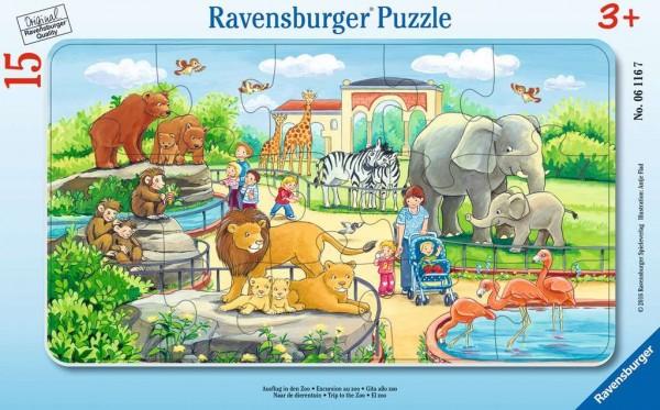 Kinderpuzzle - Ausflug in den Zoo