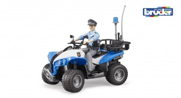 Bruder 63010 Polizei-Quad mit Polizist und Ausstattung