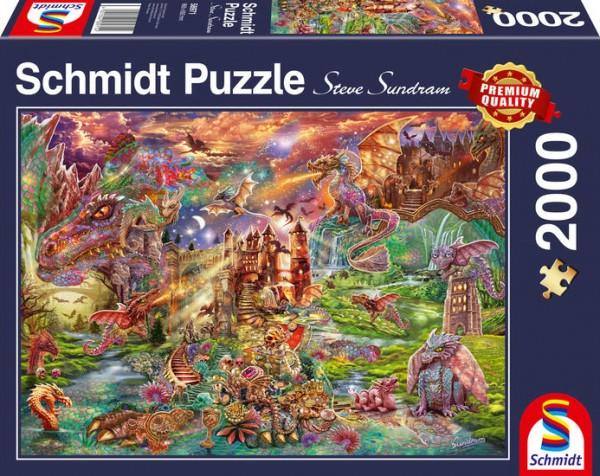 Puzzle: Der Schatz der Drachen, 2000Teile