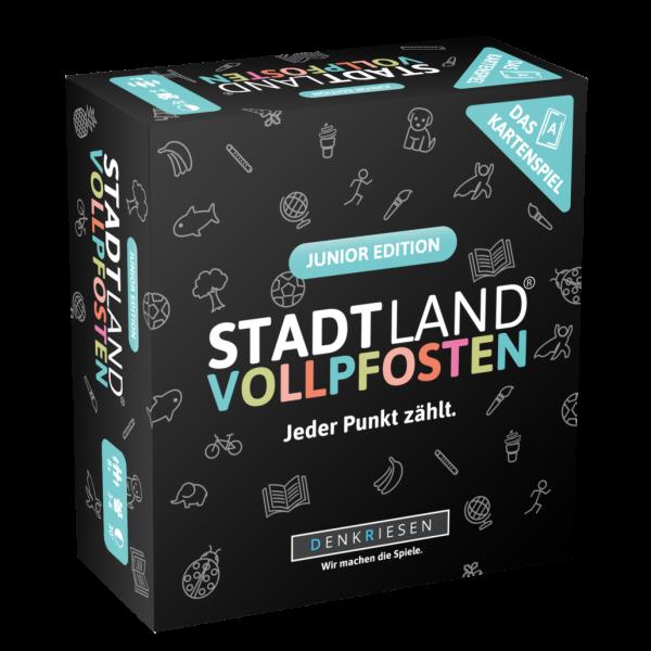 DENKRIESEN SL 3004 STADT LAND VOLLPFOSTEN: Das Kartenspiel – Junior Edition