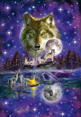 Puzzle: Wolf im Mondlicht, 1000 Teile