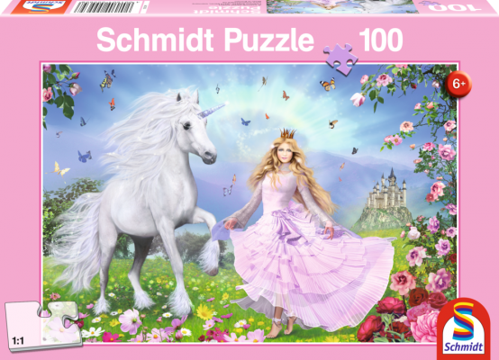 Puzzle: Prinzessin Der Einhoerner