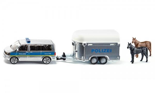 Siku 2310 Polizei-PKW mit Pferdeanhänger
