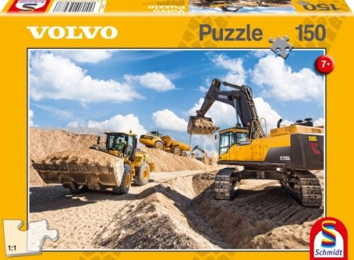 Puzzle: Volvo L120gz, A40f, Ec750, 150 Teile