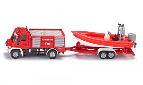 Siku 1636 Unimog Feuerwehr mit Boot