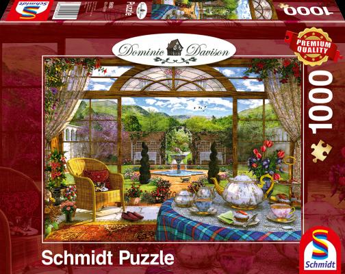 Puzzle: Blick aus dem Wintergarten, 1000 Teile