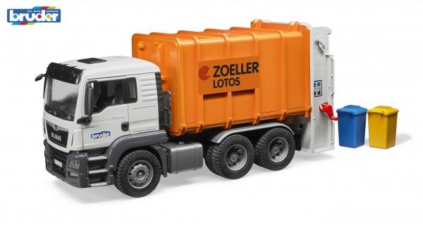 Bruder 03762 MAN TGS Hecklader Müll-LKW