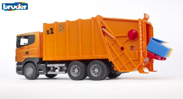 Bruder 03560 SCANIA R-Serie Müll-LKW (orange)