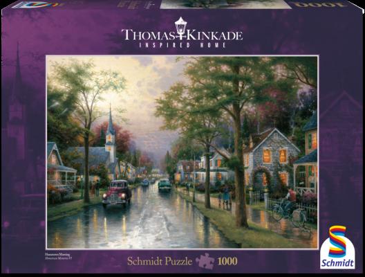 Puzzle: Morgen in der kleinen Stadt, 1000 Teile