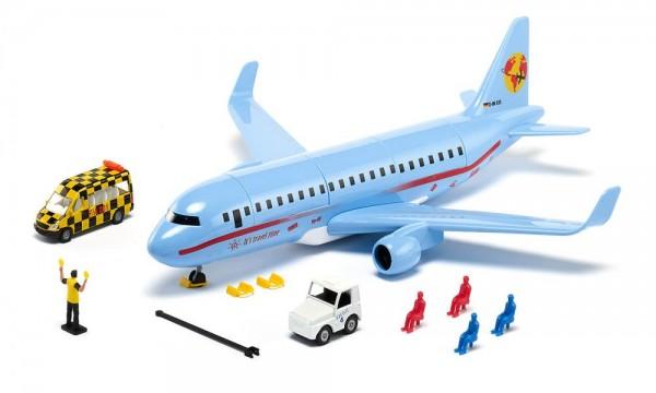 Siku 5402 Verkehrsflugzeug mit Zubehör